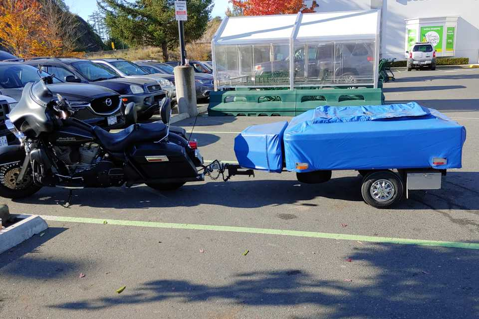 Motorcycle Camping in Victoria, British Columbia