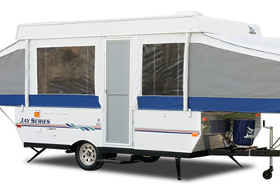 Jayco 10′ tent trailer available for your RV Rental - $75/night in Kelowna, British Columbia