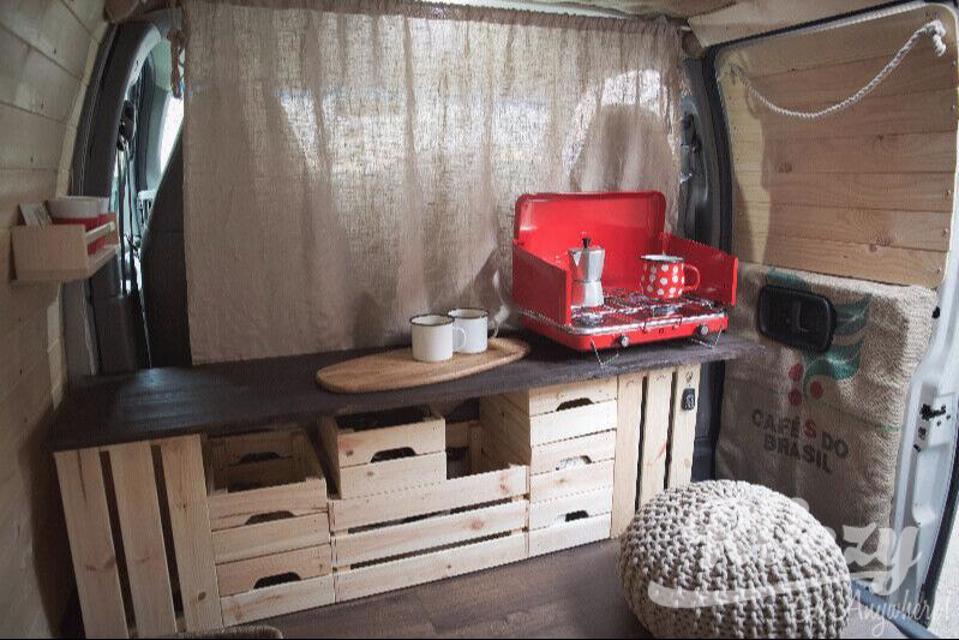 Trendy camper van  in Vancouver, British Columbia