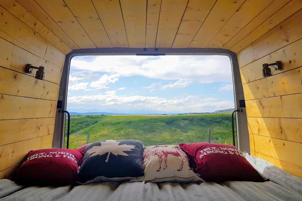 "The ""Spruce Caboose"" by Cozy Campers   Custom Converted Sprinter Campervan in Calgary, Alberta"