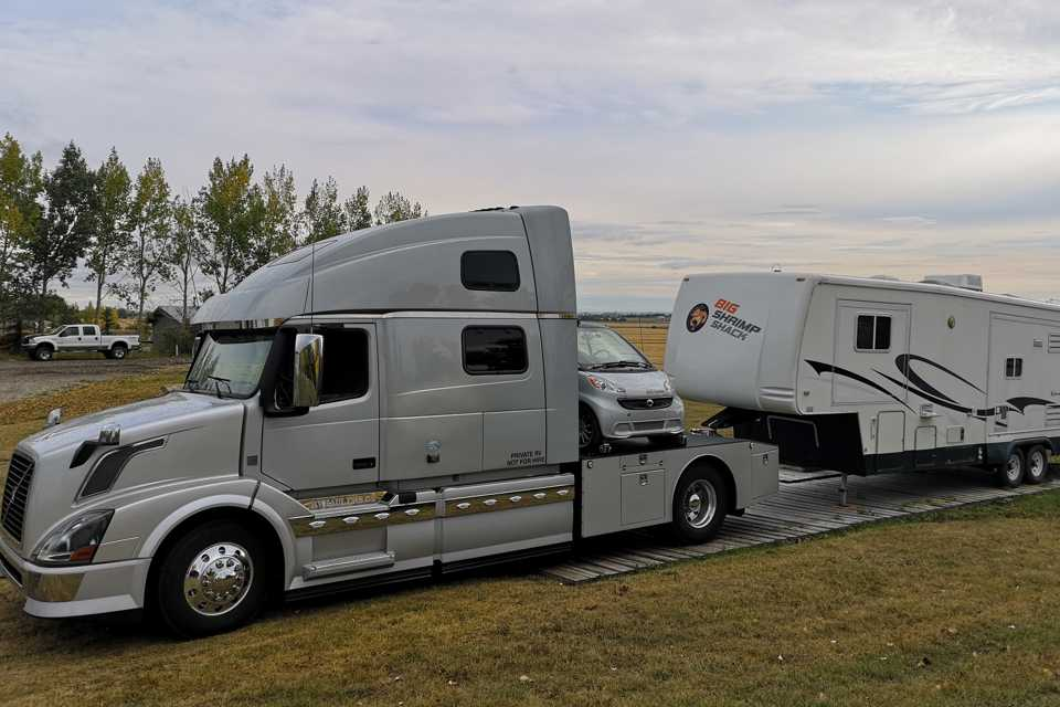 This RVHauler Can Tow the LARGEST Trailer Safely and Take Your Toys too! in Calgary, Alberta