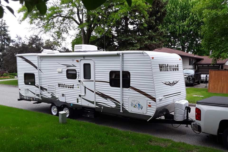 Family Camping RV in Windsor, Ontario