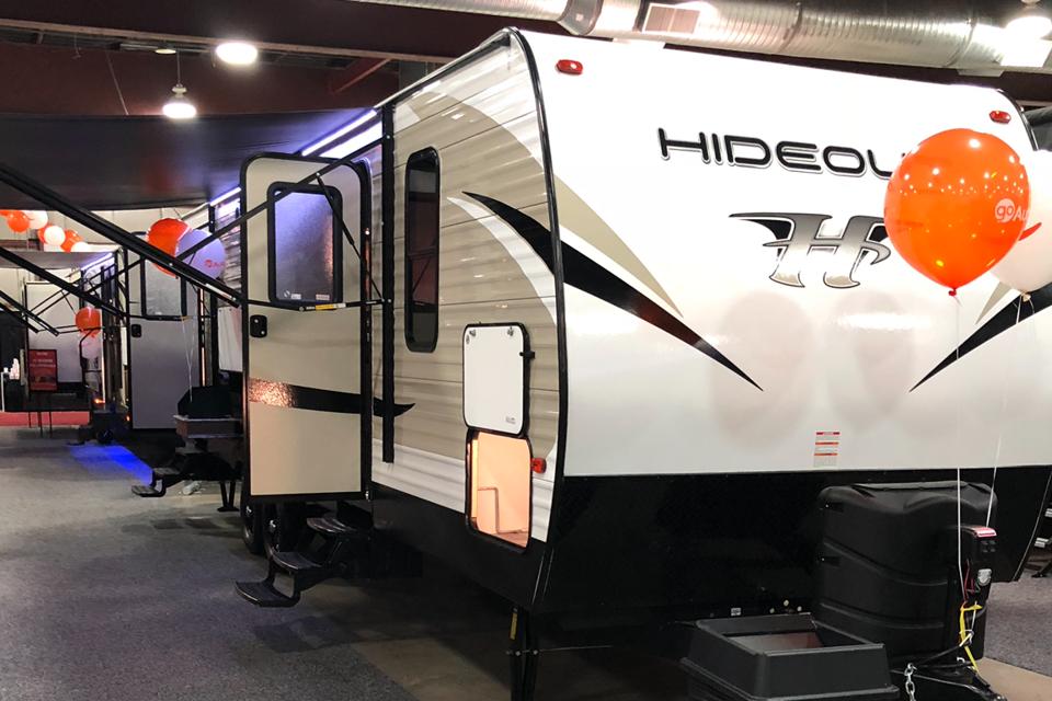 Roomy modern family camping trailer in Red-Deer, Alberta