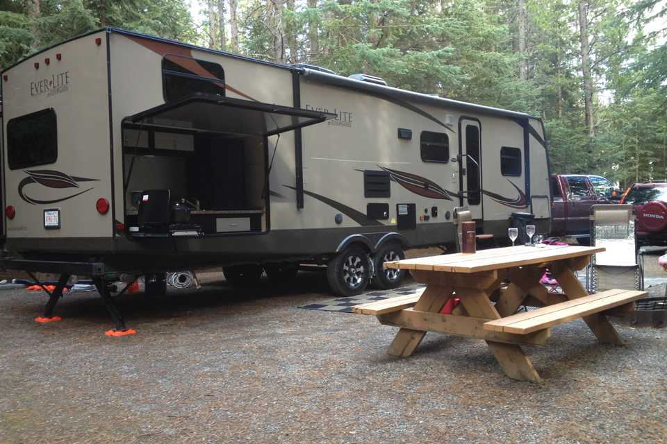 Luxury 'glamping' in Canada's playground in Redwood Meadows, Alberta